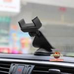 Автомобильный держатель для телефона универсальный на торпедо и на стекло WF-410 черный