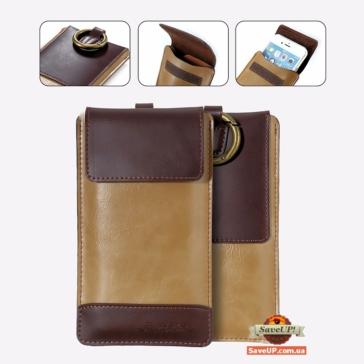 """Универсальный чехол-кошелек на пояс для телефона до 5,5"""" FLOVEME"""