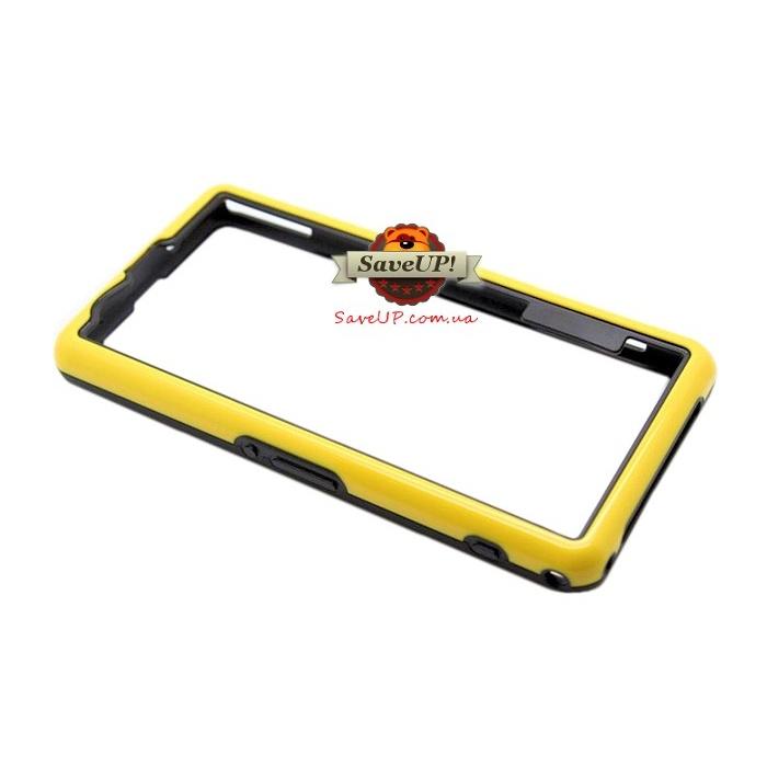Чехол бампер для Sony Xperia Z1 Compact D5503 Neo Hybrid желтый