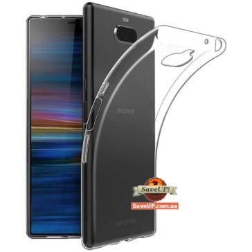 Прозрачный силиконовый чехол для Sony Xperia 10 TEXTURIZED