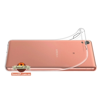 Прозрачный силиконовый чехол для Sony Xperia XA Ultra F3212 TEXTURIZED