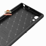 Карбоновый TPU чехол для Sony Xperia XA1 G3112 черный