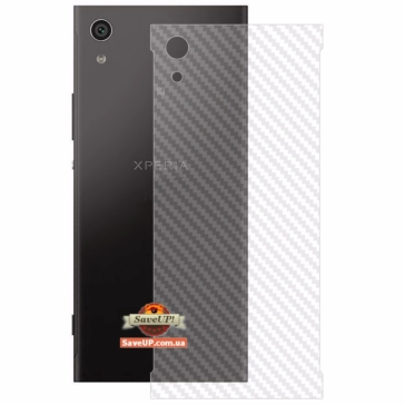 Карбоновая защитная пленка для Sony Xperia XA1 Ultra G3212 на заднюю крышку QCC