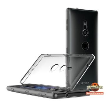 Прозрачный силиконовый чехол для Sony Xperia XZ2 Compact H8324 TEXTURIZED