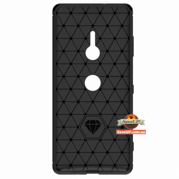 TPU чехол для Sony Xperia XZ3 Carbon Fiber черный