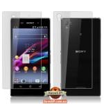 Комплект защитных пленок для Sony Xperia Z1 С6902 / C6903 на экран и заднюю крышку матовые QCC HD