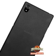 Тонкий чехол накладка для Sony Xperia Z1 C6902 Ultra Thin Armor 0,3 мм черный