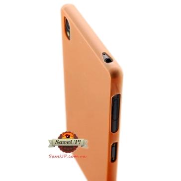 Тонкий чехол накладка для Sony Xperia Z3 D6603 Thin Ultra Armor 0,3 мм оранжевый