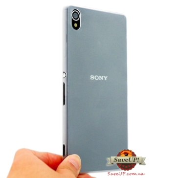 Тонкий чехол накладка для Sony Xperia Z3 D6603 Thin Ultra Armor 0,3 мм белый