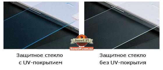 Защитное стекло для телефона с UV-покрытием и без